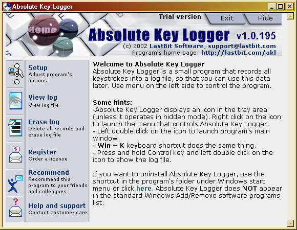 Absolute Key Logger