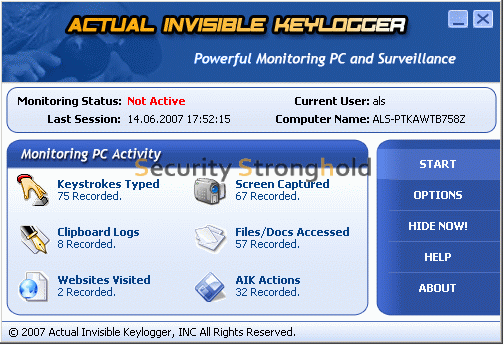 Actual Invisible Keylogger