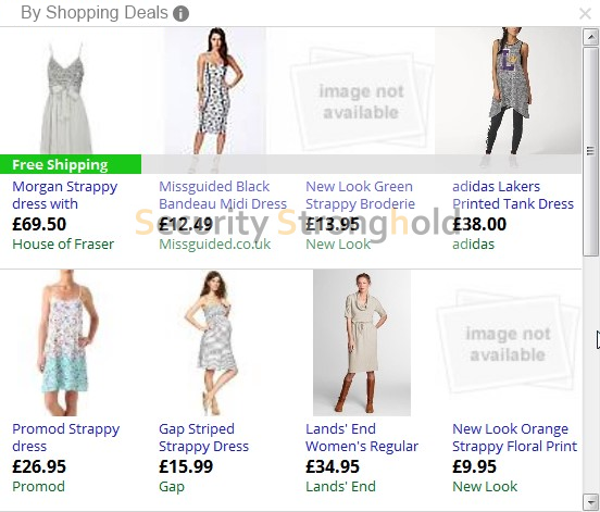shopping deals banner entfernen