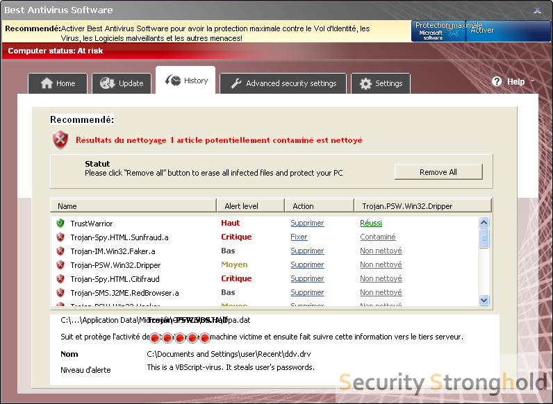 How to remove Best Antivirus Software