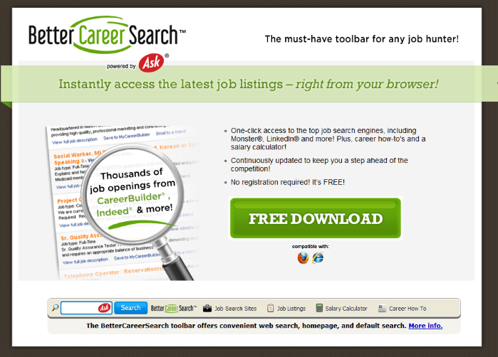 BetterCareerSearch Toolbar