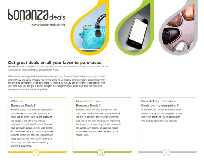 Bonanza deals adware