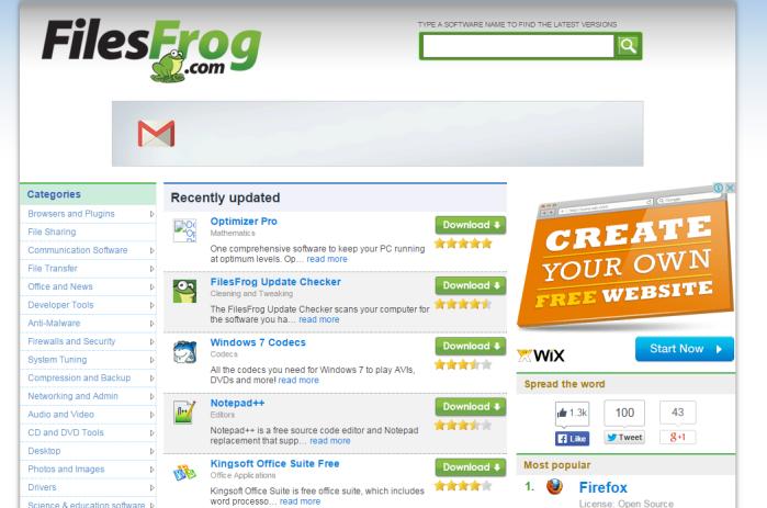 filesfrog update checker