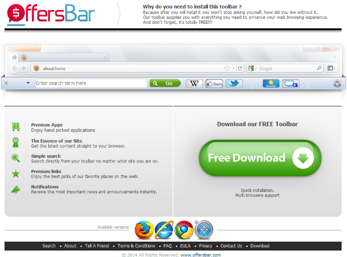 Offersbar Toolbar