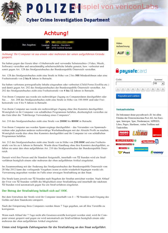 How to remove Polizei Cyber Crime Investigation Department