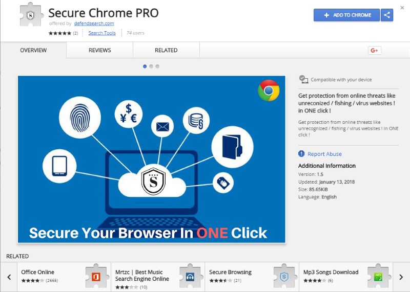 How to remove Secure Chrome Pro redirect (ads, pop-ups, banners)