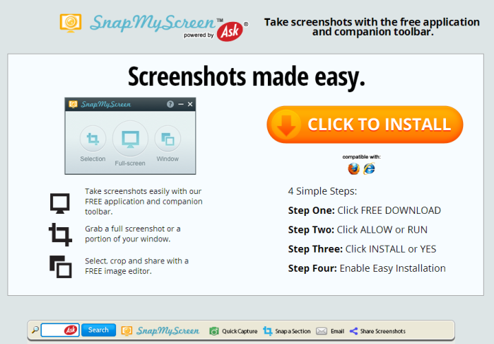 SnapMyScreen Toolbar