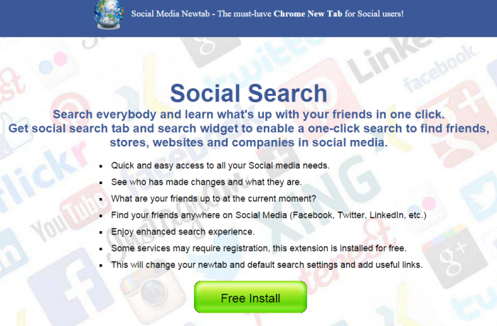 Remove Social Media NewTab from browsers