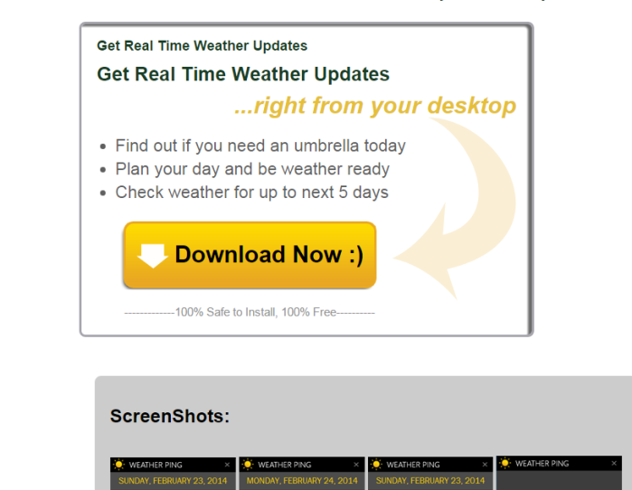 How to remove Weather Ping (ads, pop-ups, banners)