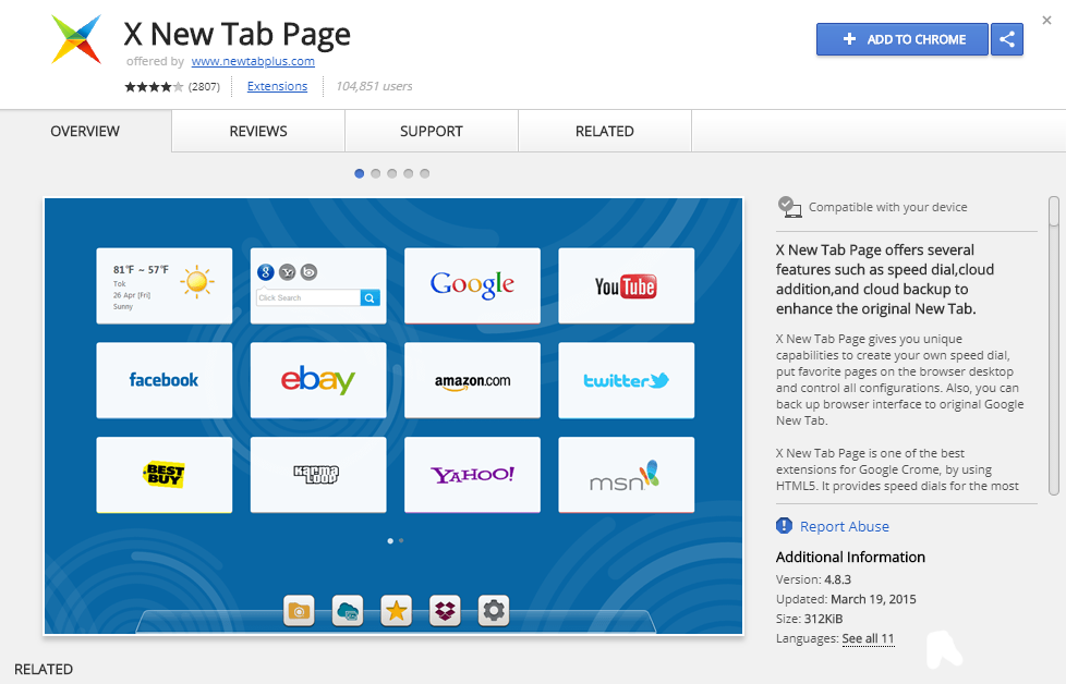 How to remove X New Tab Page from Google Chrome, Mozilla Firefox
