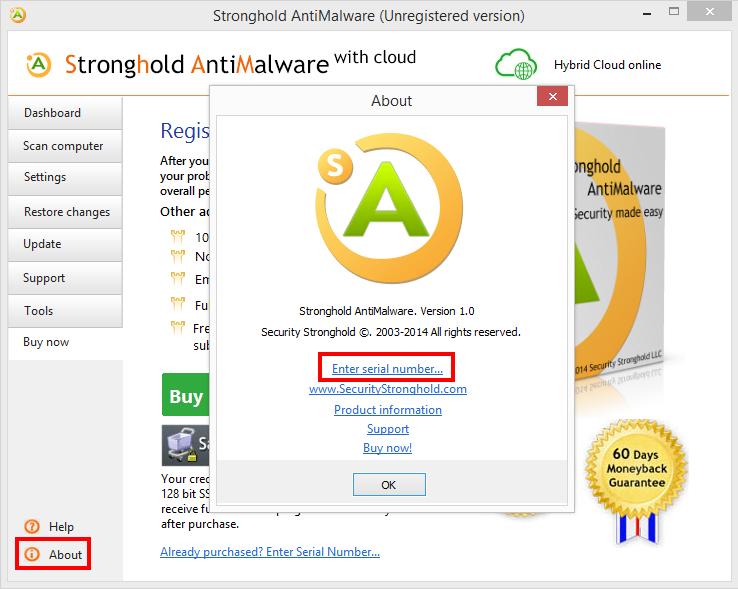 stronghold antimalware серийный номер