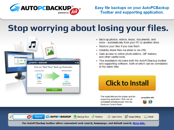remove autopcbackup toolbar from browsers. Black Bedroom Furniture Sets. Home Design Ideas