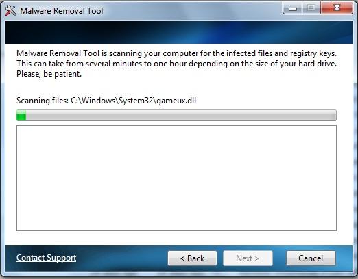 Malware Removal Tool screenshot