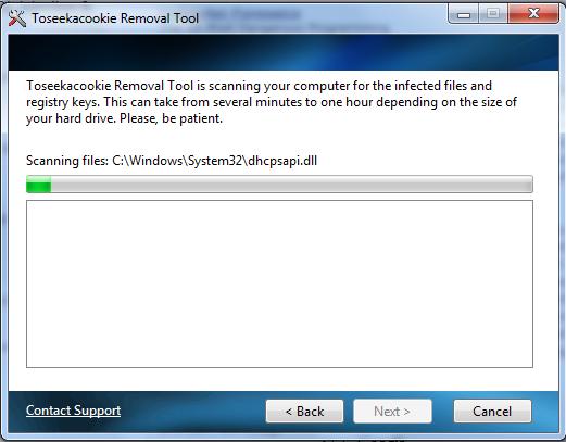 Toseeka Removal Tool screen shot